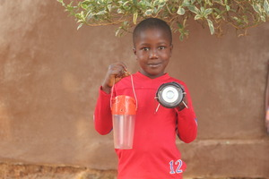 Solar light brings a smile