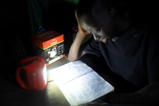 Solar D-Light helps Edward study at night
