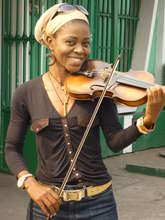 Pauleth loves to play the violin
