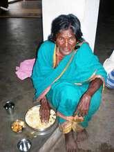 Mrs.Rengammal, inmate of elder home