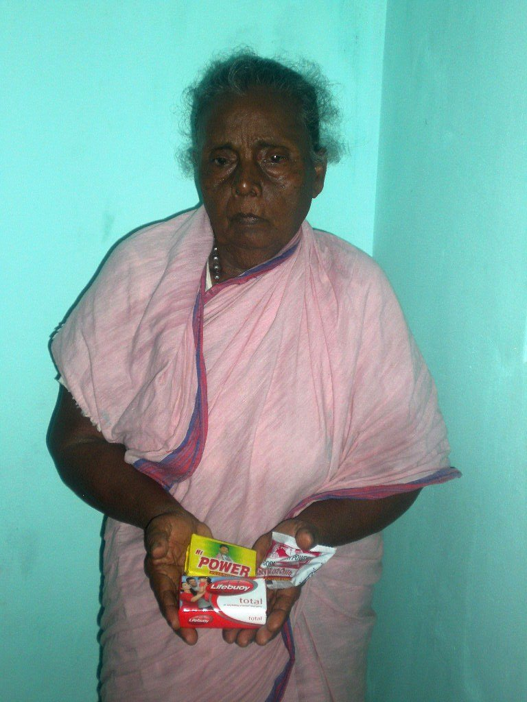 Mrs.Kasthuri an inmate getting monthly provision