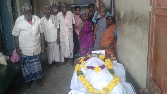 Mr.Alagarsamy's death body