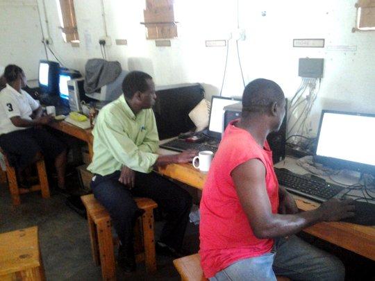 Teachers attending a workshop