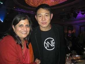 Bal Ashram Director with Jet Li