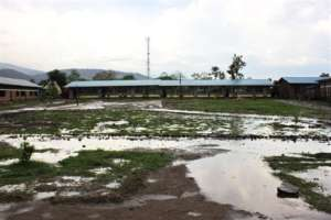 The School floods easily in the rainy Season