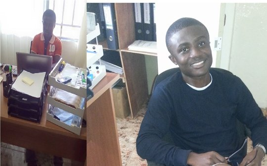 AGLI's 2nd Male Beneficiary Prince interns at GPFA