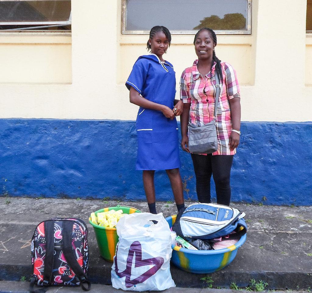Program Officer Johana & Boarding Student Musu