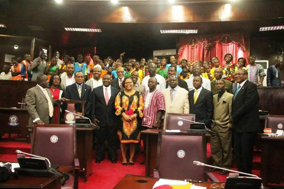 PTFP Youth Camp Participants @the Liberian Senate