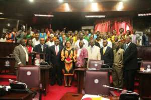 PTFP Youth Camp Participants @the Liberian Senate