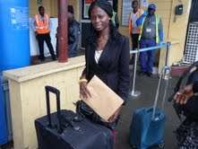Yvonne ready to leave for Cedar Crest College, USA