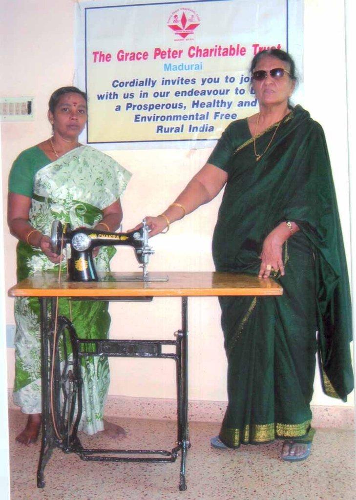 Sewing Machine donated to Mrs.G.Kanchana