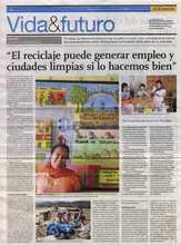 Ciudad Saludable promueve reciclaje como medio para generar empl