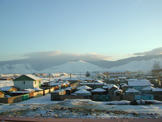 Ulaanbaatar in the winter