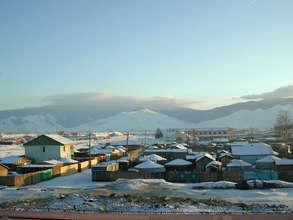 Ulaanbaatar in the winter