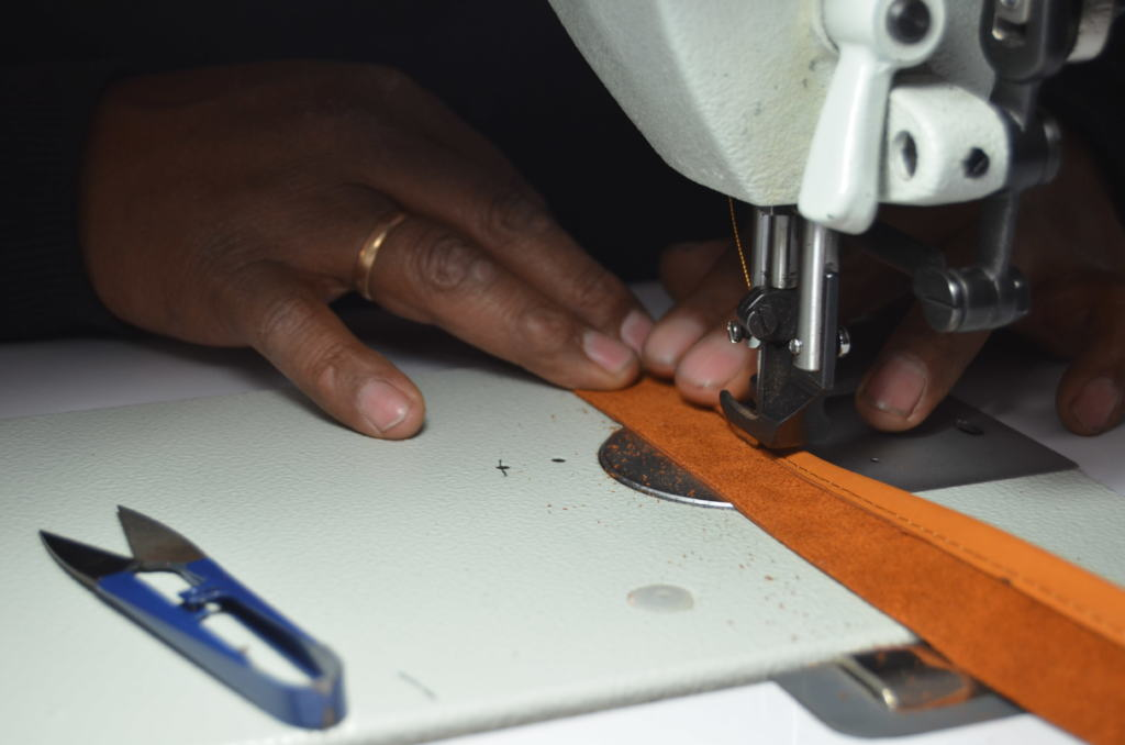 Sewing a strap