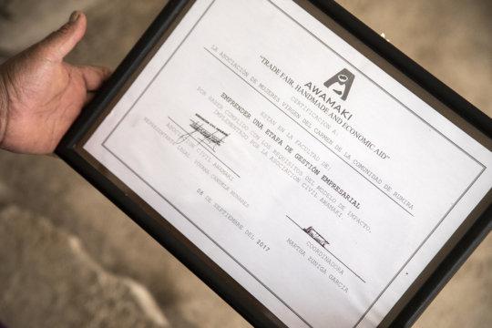 The first Awamaki Diploma!