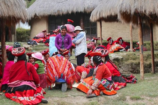 Women from Patacancha during an identity workshop