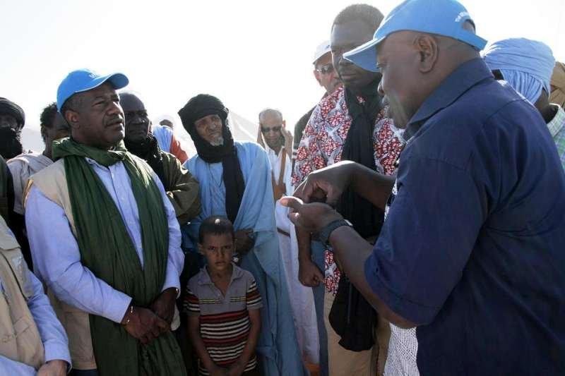 Valentin Tapsoba (left) while in Mauritania