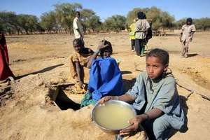 Malian refugees are face a shortage of clean water