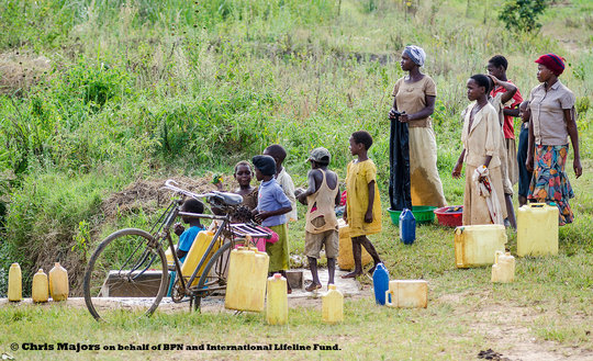 Queue for a new well in Pallisa, Uganda