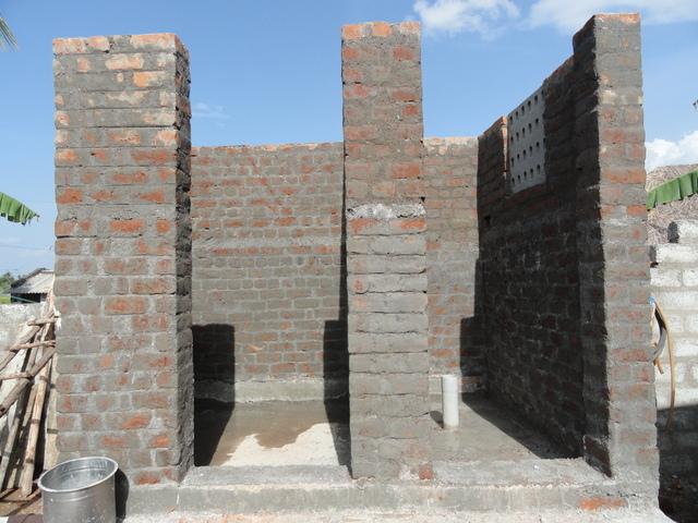 Bathroom in progress, Endiyur Village