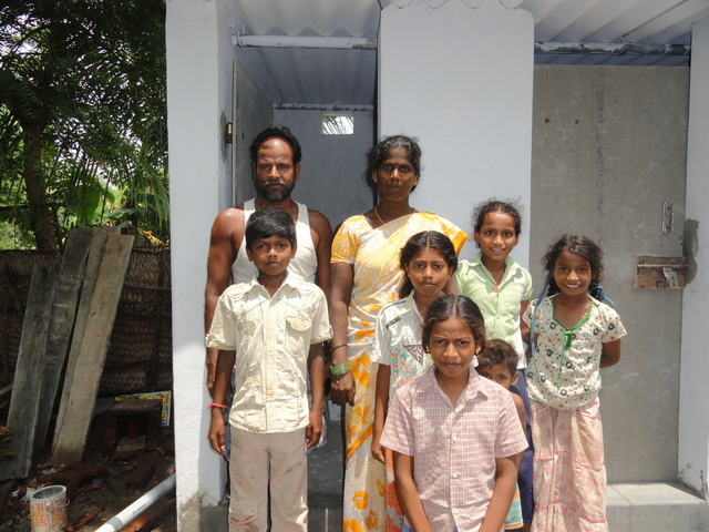 Proud beneficiary family of Endiyur Village