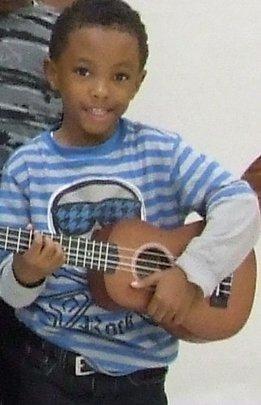 CJ loves making music!