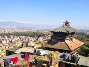 View of Kathmandu Valley from Kirtipur
