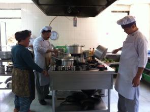 Kitchen crew at work