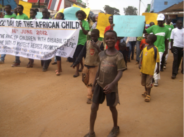 Street children mark the Day of the African Child