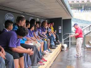 In the Target Field dugout!