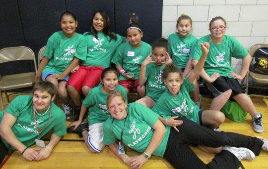 Anishinabe Playworks Basketball Team!