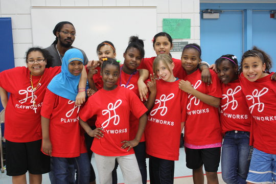 Playworks' basketball team gets ready to play!