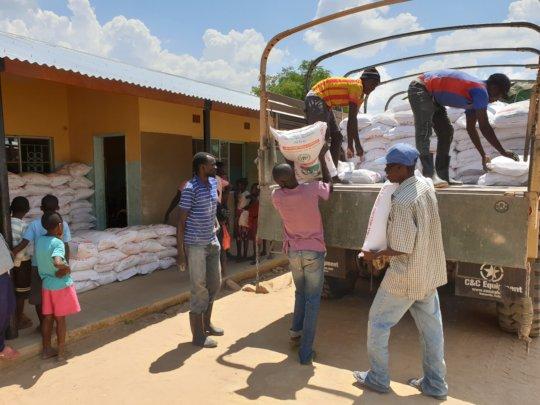 Food Distribution - Bunsanga Primary School