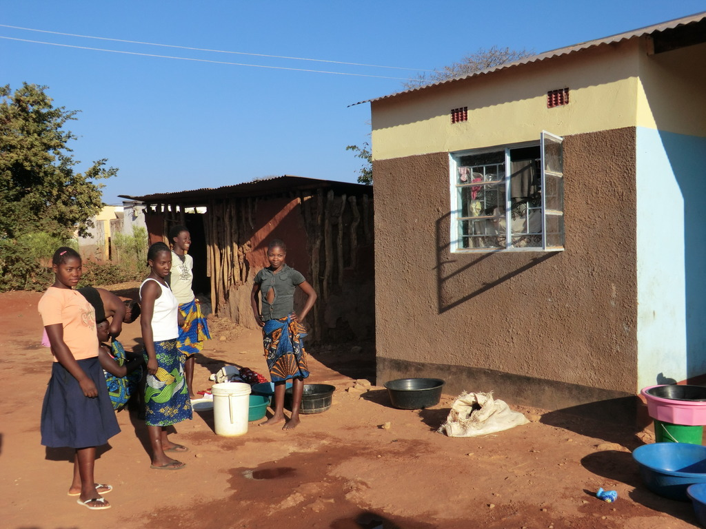 School girls from outreach villages stay at Mukuni