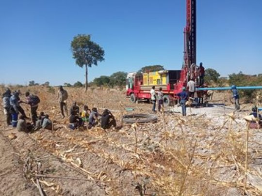 Successful drilling of a borehole - Chikwama