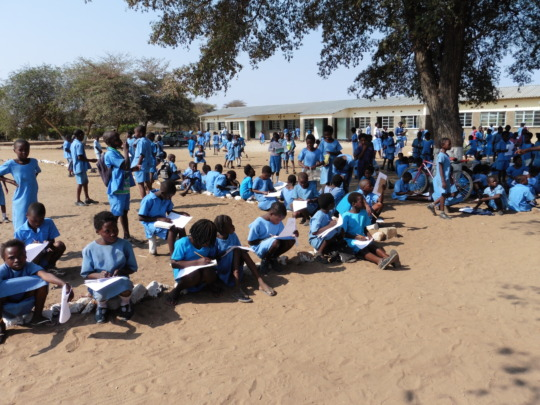 Some of the 1,100 pupils at River View School