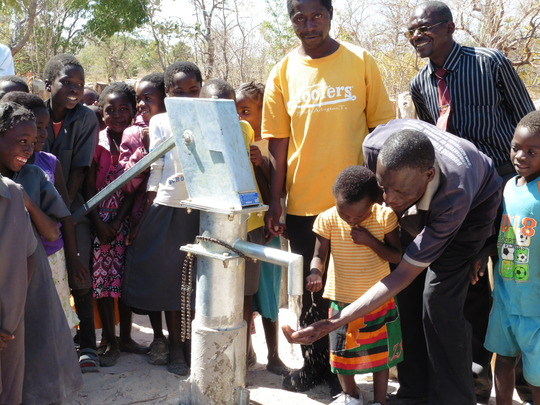 New Bore Hole and Indian Hand Pump