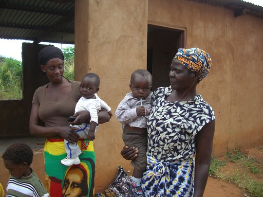 Widow and grandmother with infants