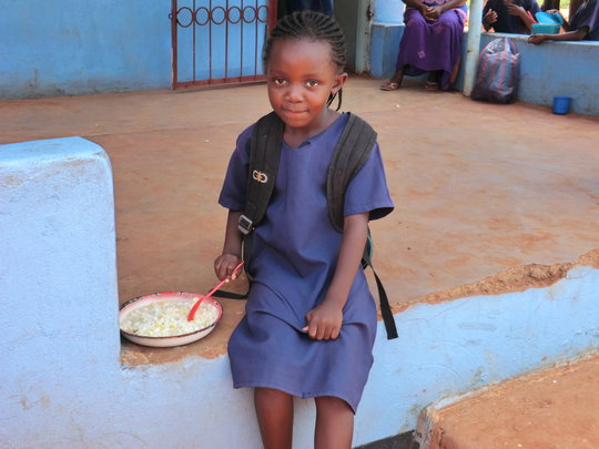 Maize is the staple diet for Zambia children