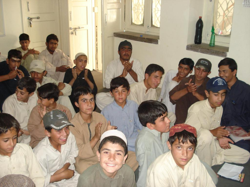 children in happy mood on the day of distribution