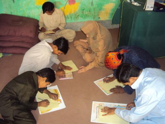 children during LSBE session