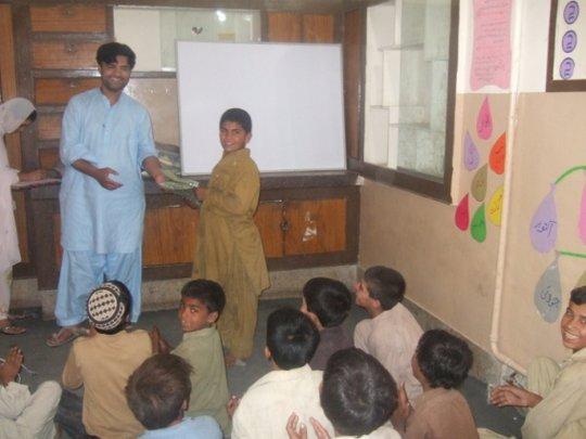 children reciving gifts