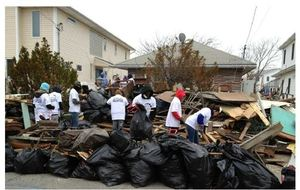 Volunteers for Extreme Home Makeover