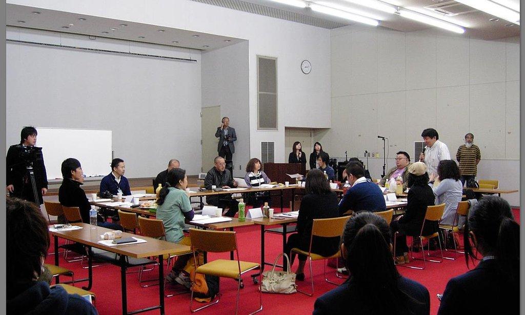 Participants discussing future plans