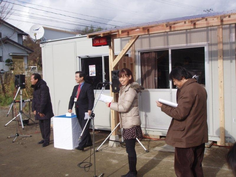 Opening of Rikuzentakata FM station
