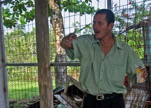 Angel Silva S., landowner of Angel's Fruit Forest