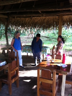 Maleku Council meeting in the rancho