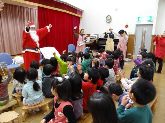 Everyone enjoyed Christmas music