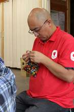 Ohara handicrafts a pouch with participants